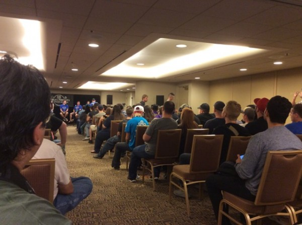 World of Podcasts panel audience