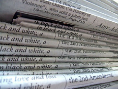 A stack of newspapers by Daniel R Blume on Flickr