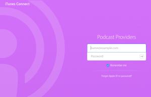 iTunes Connect login