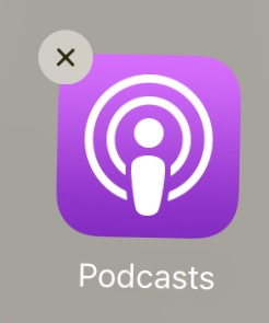 Podcasts Delete